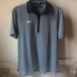 Under Armour Tops - Under Armour Women's Clubhouse Polo Black Stripes